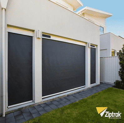 <br><br><br>Ziptrak outdoor blinds